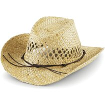 Sombrero fabricado en paja estilo vaquero personalizado natural