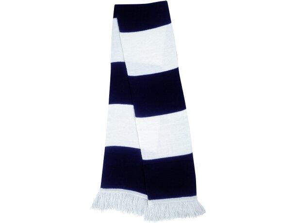 Bufanda básica a rayas personalizada blanco/negro