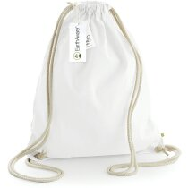 Bolsa mochila de algodón orgánico muy resistente blanca