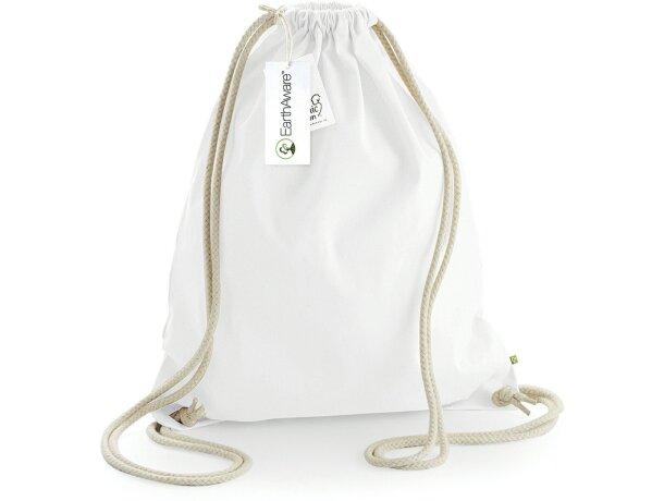658f15dcf Bolsa mochila de algodón orgánico muy resistente blanca