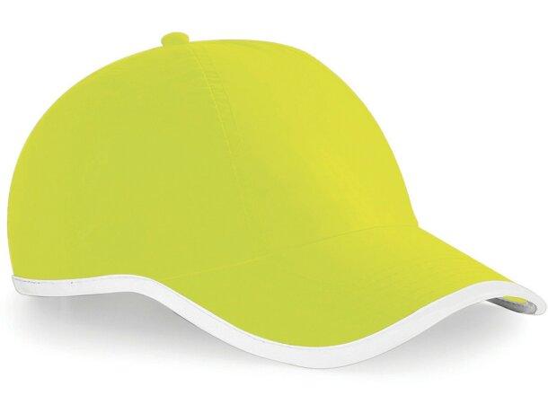 Gorra de poliester sencilla con ribete de color combinado