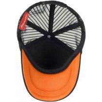 Gorra con frontal acolchado y malla negro/fucsia