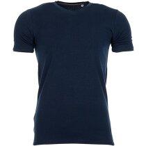Camiseta manga corta cuello en V 170 gr azul marino