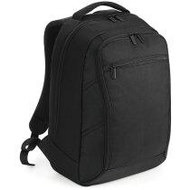 Mochila acolchada para portátil marca Quadra personalizada negra