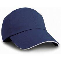 Gorra de 6 paneles y cierre de clip ajustable personalizada azul marino