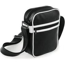 Bolsa bandolera pequeña estilo retro personalizada negro y blanco