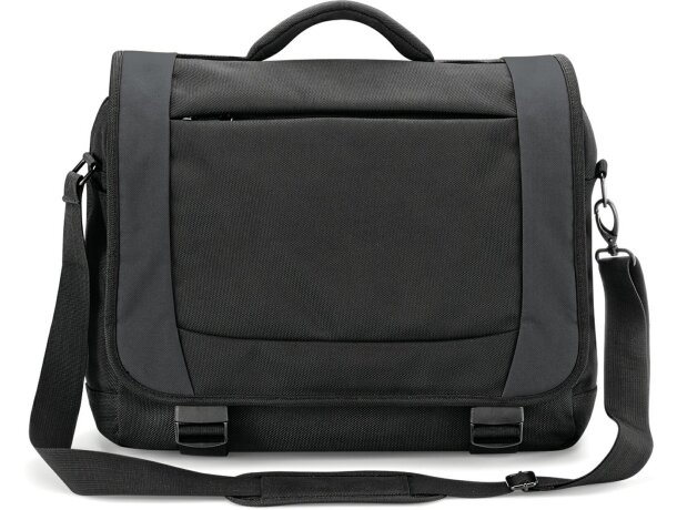 Maletín elegante con bolsillos personalizado negro