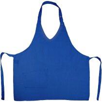 Mandil para mujer con bolsillo en varios colores personalizado azul royal