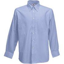 Camisa Oxford manga larga hombre  azul claro