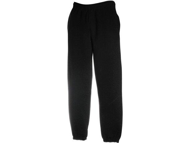 Pantalón con bajo elástico de adulto grabado negro