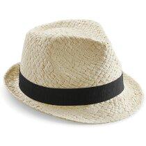 Sombrero fabricado en paja natural personalizado natural