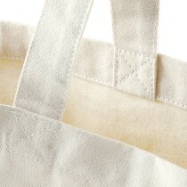 Bolsa clásica de algodón con asas cómodas natural