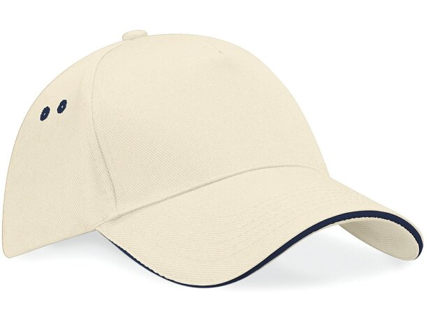 Gorra de 5 paneles con visera tipo sandwich azul marino