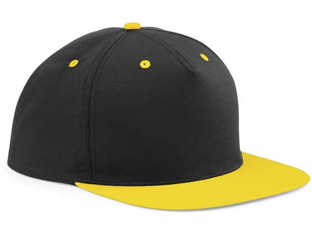 Gorra  estilo snapback de 5 Paneles personalizada negra