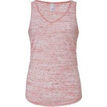 Camiseta de tirantes de mujer cuello en V personalizada roja