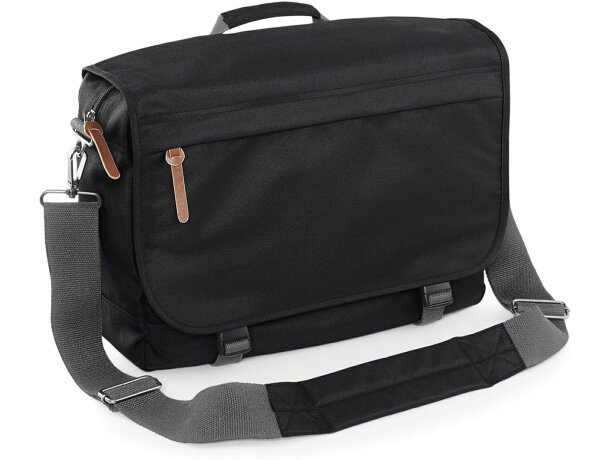 Bolsa mensajero con acolchado protector barata negra