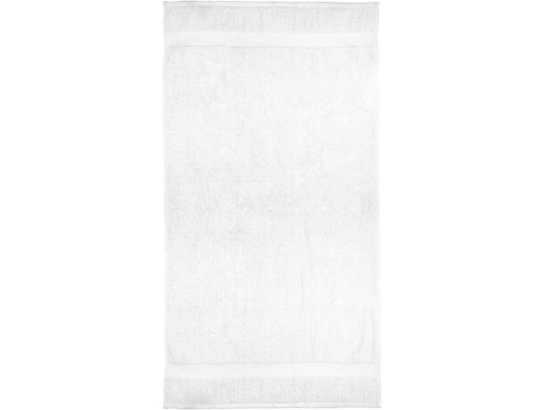 Toalla de baño algodón 550 gr grabada blanca