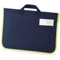 Bolsa para libros con panel reflectante barata azul marino