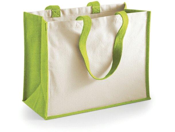 Bolsa de yute y algodón personalizado