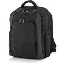 Mochila barata para portátil con varios bolsillos personalizada negra