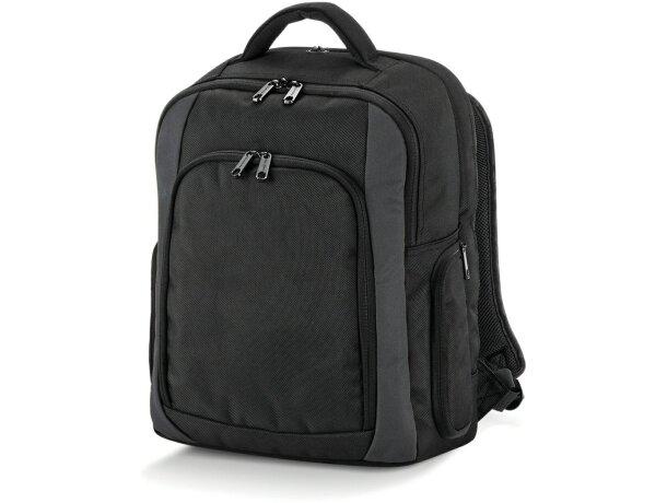 Mochila para portátil con varios bolsillos personalizada negra barata