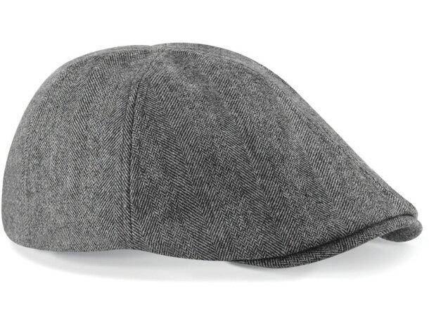 Gorra especial de poliester y lana gris