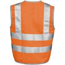 Chaleco de seguridad para niño con bordes en gris personalizado naranja fluor