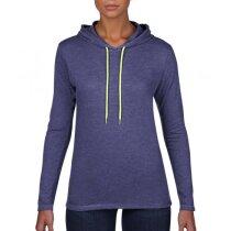 Camiseta manga larga con capucha de mujer 150 gr
