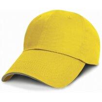 Gorra de algodón con acabado sarga suave