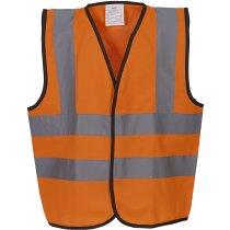 Chaleco de seguridad de alta visibilidad para niños personalizado naranja fluor
