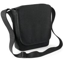 Bolsa con acolchado para tablet grabado negra