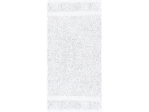 Toalla de baño de algodón 550 gr personalizada blanca