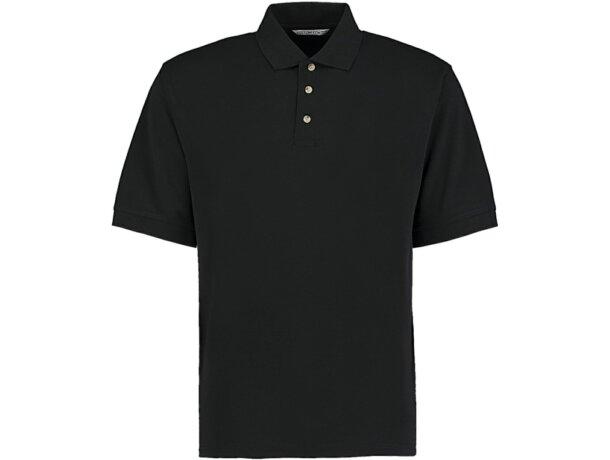 Polo de manga corta tejido mixto unisex 220 gr personalizado negro