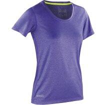Camiseta Shiny Fitness mujer lila