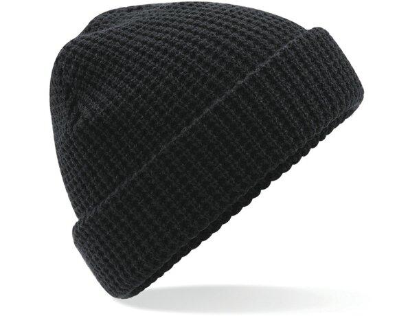 Gorro clásico de poliester para el frío personalizado negro 7d16fca53e6