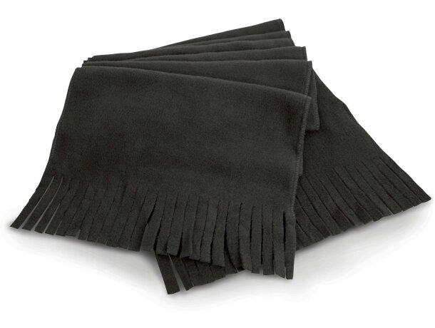 f269a653aa8fc Bufanda polar básica personalizada negra