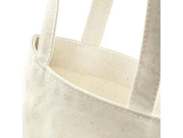 Bolsa de algodón con asas para 1 botella natural