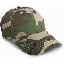Gorra con 6 panesl y acabado en algodón grueso personalizada