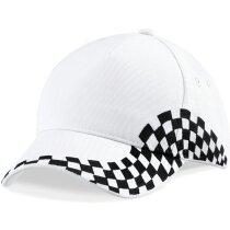 Gorra con diseño especial de carreras personalizada blanca