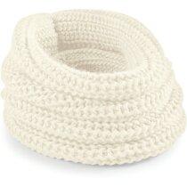 Bufanda de punto para el frío personalizada natural
