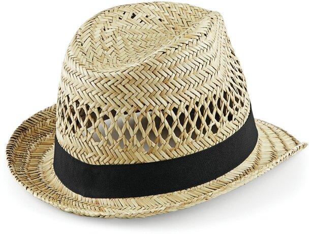 Sombrero hecho de paka ala corta personalizado natural
