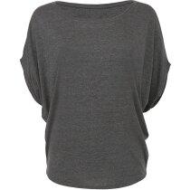 Camiseta ligera mangas Dolman de mujer gris oscuro