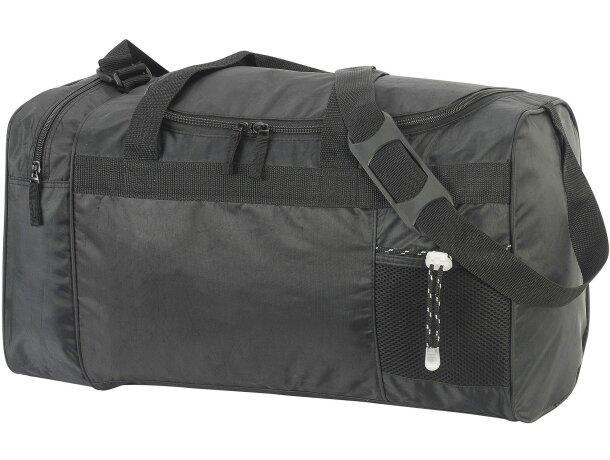 5e4a683e8 Bolsa de deporte o viajes de poliéster primera calidad personalizada negra