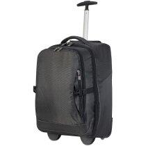 Trolley mochila de poliéster para portátil personalizada negra