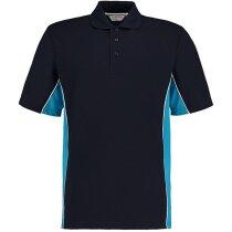 Polo de hombre combinado personalizado azul marino