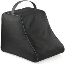 Bolsa de poliéster para botas grabado negra
