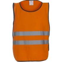 Chaleco unisex de cuerpo entero personalizado naranja fluor