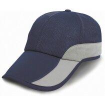 Gorra especial con acabado rejilla y bolsillo personalizada azul marino