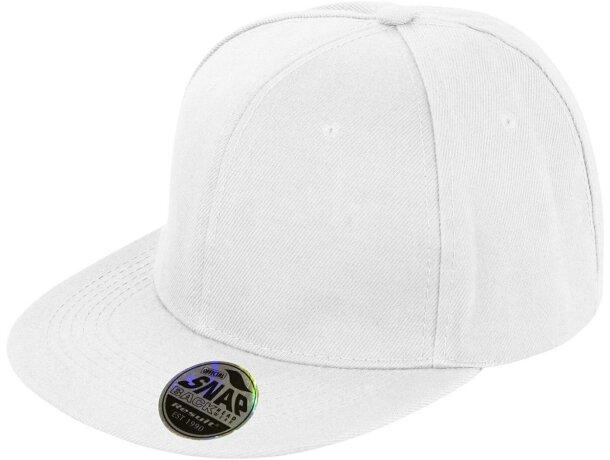 Gorra con visera plana de diseño personalizada blanca 6e2c799b6b9