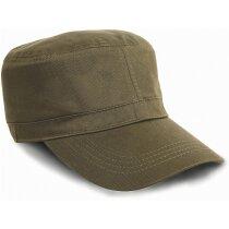 Gorra estilo militar hecha en algodón de calidad